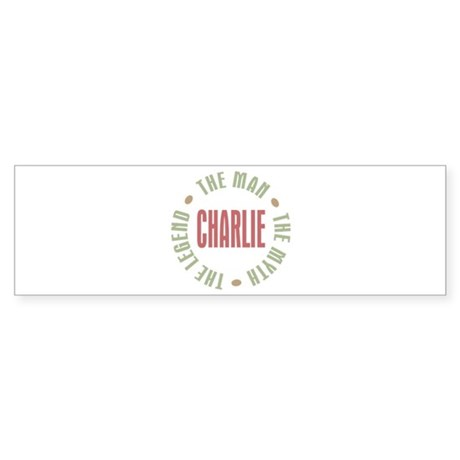 Charlie Man Myth Legend Bumper Sticker (10 pk)