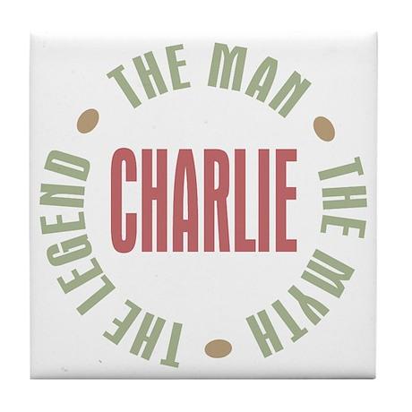 Charlie Man Myth Legend Tile Coaster