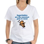 Sugarbabies (Cat) Women's V-Neck T-Shirt