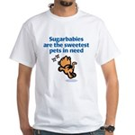 Sugarbabies (Cat) White T-Shirt