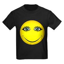 Girl Smiley Face T