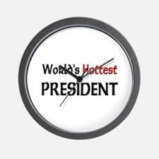 World's Hottest President Wall Clock