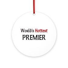 World's Hottest Premier Ornament (Round)