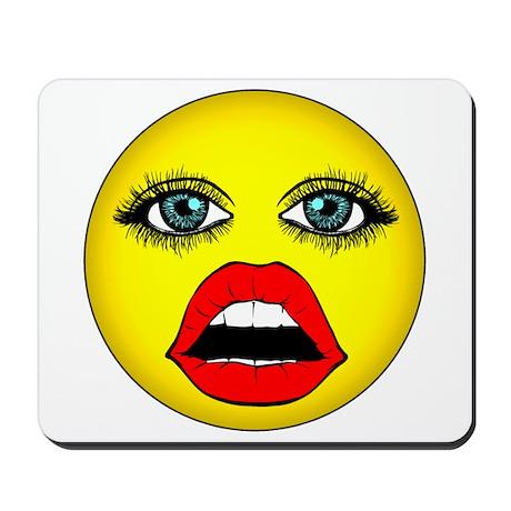 Girl Happy Face Mousepad