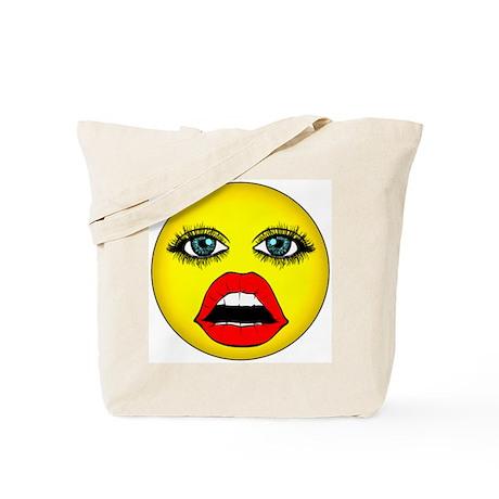 Girl Happy Face Tote Bag