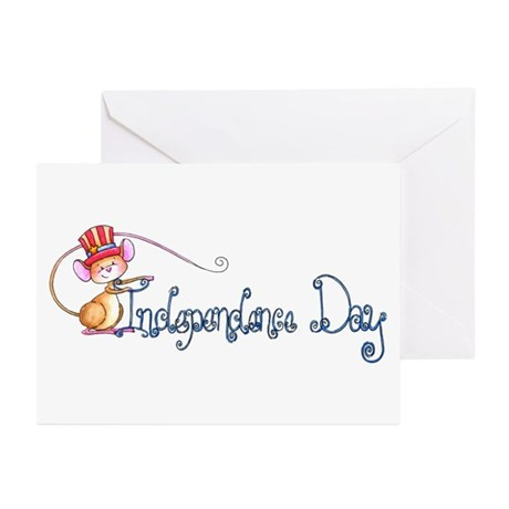 Independence Day Mouse Greeting Cards (Pk of 10)