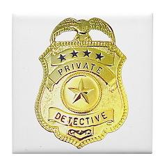 Private Detective Tile Coaster