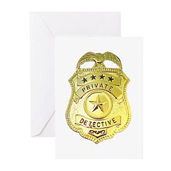 Private Detective Greeting Cards (Pk of 20)
