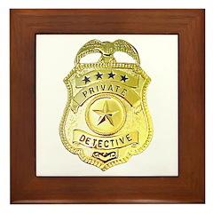 Private Detective Framed Tile