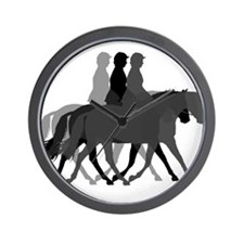 Dressage layers Wall Clock