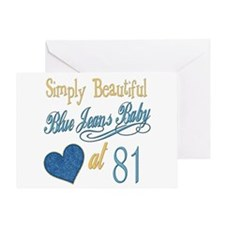 Blue Jeans 81st Greeting Card