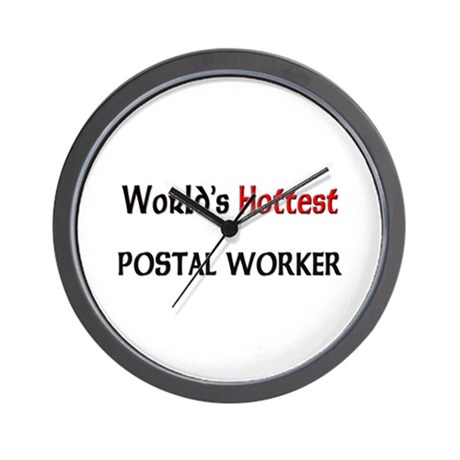 World's Hottest Postal Worker Wall Clock