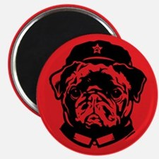 Black Pug Dog Chairman Magnet
