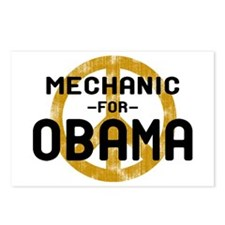 Mechanic For Obama Postcards (Package of 8)