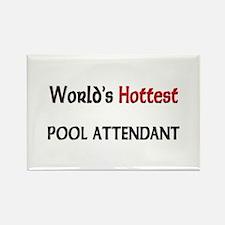 World's Hottest Pool Attendant Rectangle Magnet