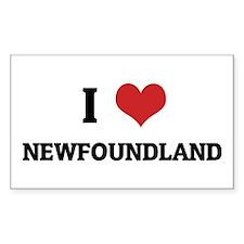 I Love Newfoundland Rectangle Decal