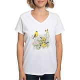Goldfinch Womens V-Neck T-shirts