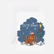 Let It Snow Irish Setter Greeting Card