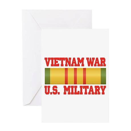 Vietnam War Service Ribbon Greeting Card