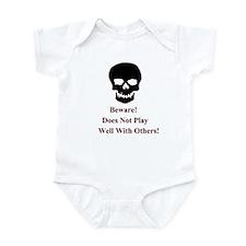 Beware Skull Infant Bodysuit