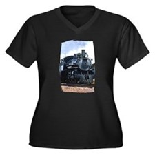 Steam Locomotive 94 Women's Plus Size V-Neck Dark