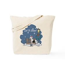 Let It Snow Great Dane Tote Bag