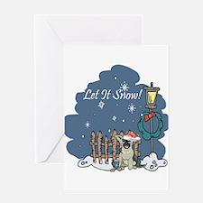 Let It Snow German Shepard Greeting Card