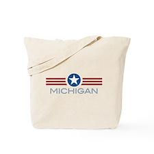 Star Stripes Michigan Tote Bag