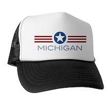 Star Stripes Michigan Trucker Hat