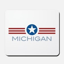 Star Stripes Michigan Mousepad