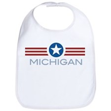Star Stripes Michigan Bib