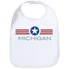 Star Stripes Michigan Bib