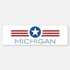 Star Stripes Michigan Bumper Bumper Bumper Sticker