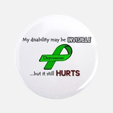 "Depression Hurts 3.5"" Button"