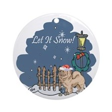 Let It Snow Chow Chow Ornament (Round)