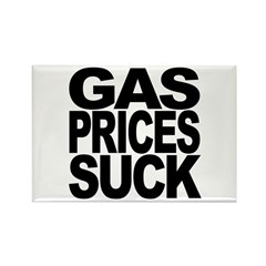 Gas Prices Suck Rectangle Magnet