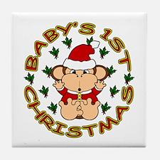 Baby's 1st Christmas Tile Coaster