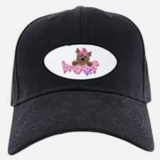 Yorkie girl Woof Baseball Hat