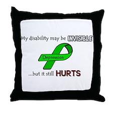 Depression Hurts Throw Pillow