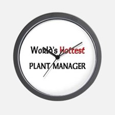 World's Hottest Plant Manager Wall Clock