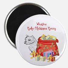 Merry Christmas Westie Magnet