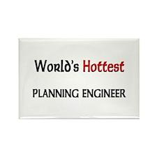 World's Hottest Planning Engineer Rectangle Magnet