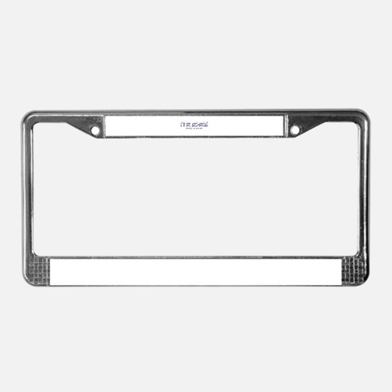 I'm anti-social License Plate Frame