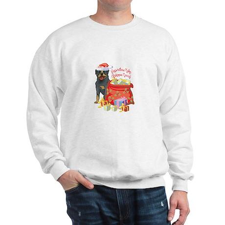 Merry Christmas Rottweiler Sweatshirt