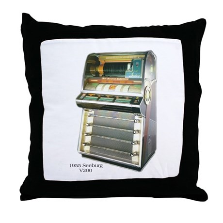 1955 Seeburg V200 Jukebox Throw Pillow