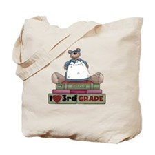 Bear and Books 3rd Grade Tote Bag
