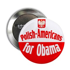 Polish Americans for Obama button