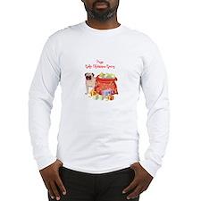 Merry Christmas Pug Long Sleeve T-Shirt
