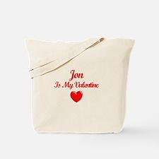 Jon Is My Valentine Tote Bag