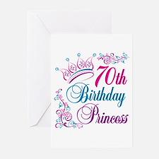 70th Birthday Princess Greeting Cards (Pk of 10)